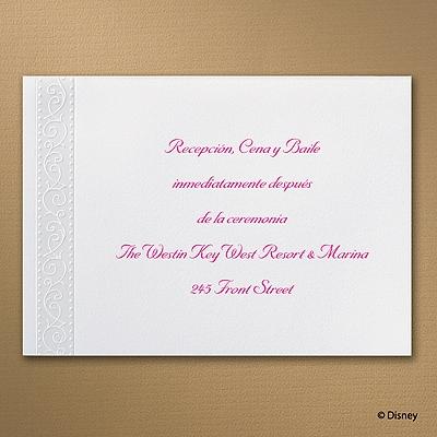 Royal Ballroom Belle - Reception Card
