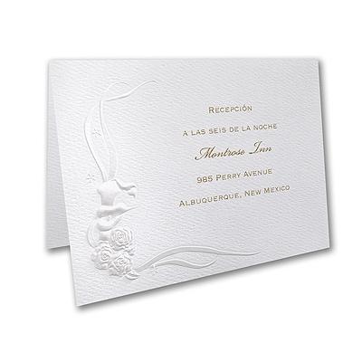 Romantic Swans - Reception Card