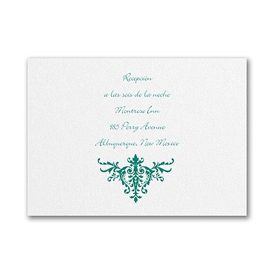 Florentine Crest - Reception Card