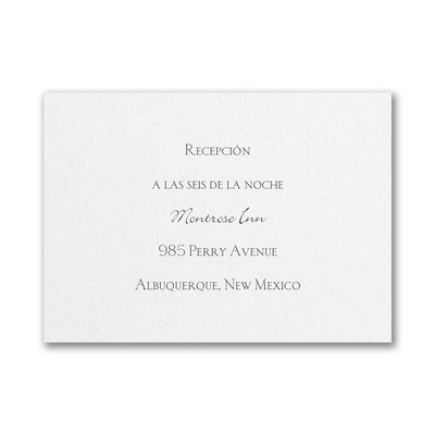 Reception Card - White Shimmer