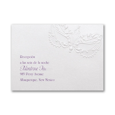 La Fiesta - Reception Card