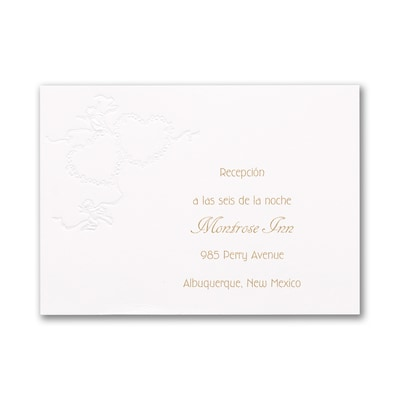 Mi Amor - Reception Card