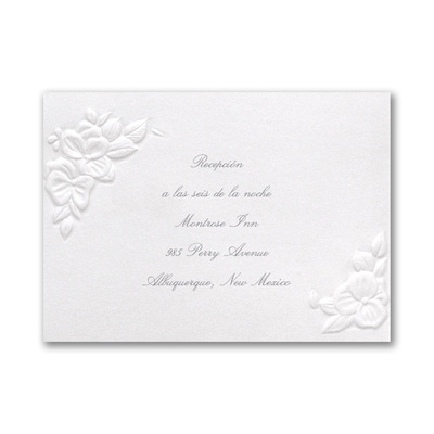 Intertwined Hearts - Reception Card