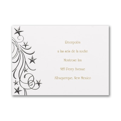 Princess Party - Reception Card