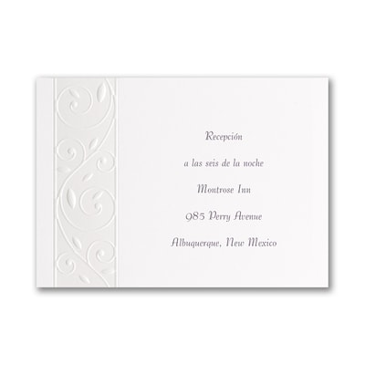 Everlasting Evening - Reception Card