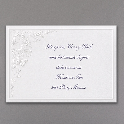 Floral Butterfly Fantasy - Reception Card
