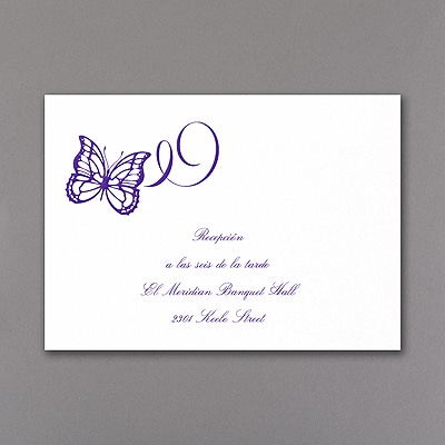 Fluttering Celebration - Reception Card