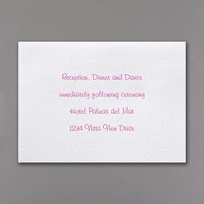 Forever Floral - Reception Card