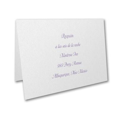 Reception Folder - White Shimmer