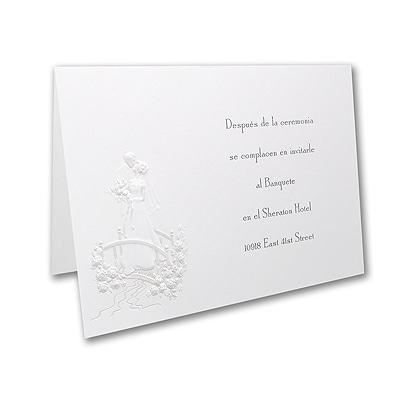 Romantic Rendezvous - Reception Card