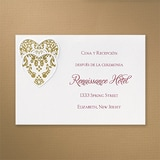 Hearts and Ribbons - Reception Card