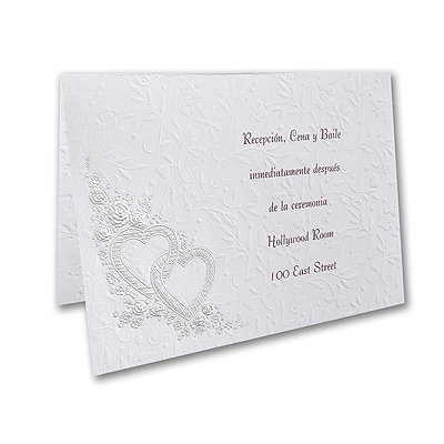 Devoted Hearts - Reception Card