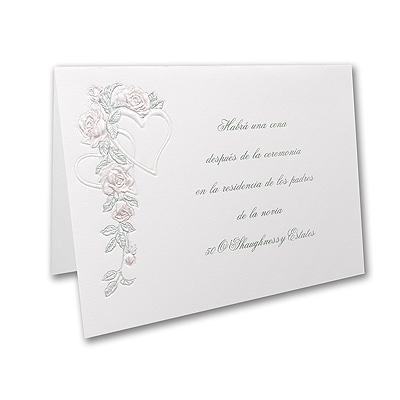 Surrounded by Love - Reception Card