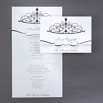 Sparkling Tiara - Invitation