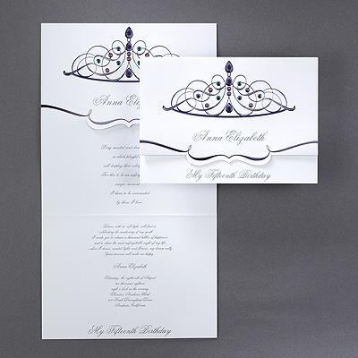 Sparkling Tiara - Invitation