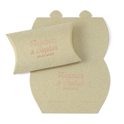 Precious Gift - Gold Glitter Pillow Box