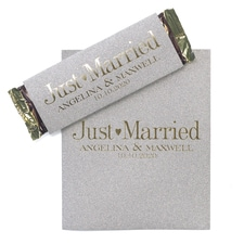 Sweetest Love - Silver Glitter Candy Bar Wrapper