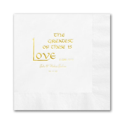 The Greatest of These is Love Napkin - Beverage