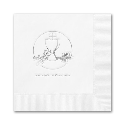 First Communion Napkin - Beverage