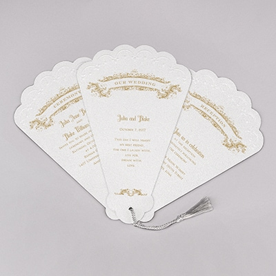 Vintage Fan - Invitation