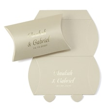 Precious Gift - Gold Shimmer Pillow Box