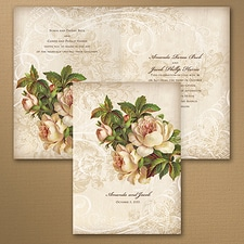floral invitation: Vintage Roses