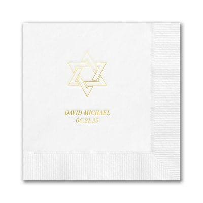 Star of David Napkin - Beverage