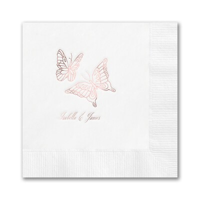 Butterflies Napkin - Beverage