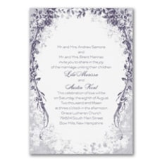 Vintage Garland - Wedding Invitation