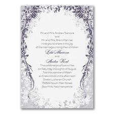 floral invitation: Vintage Garland