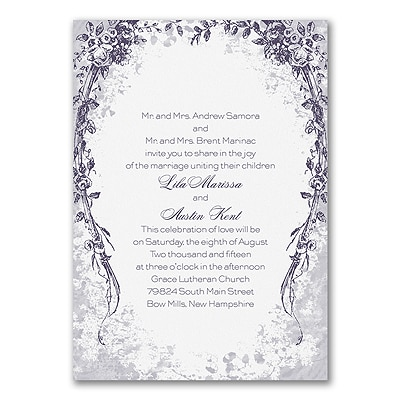 Vintage Garland - Invitation