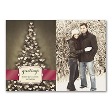 Merry Hearts - Photo Holiday Card