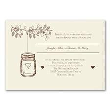 Wedding Invitation: Lantern Jar