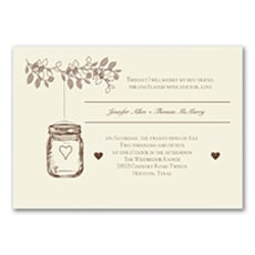 Lantern Jar - Wedding Invitation