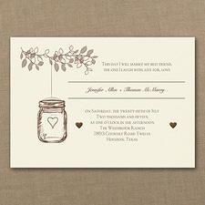 affordable and cheap invitation: Lantern Jar