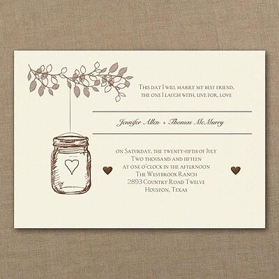 Lantern Jar - Invitation - Ecru