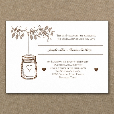 Lantern Jar - Invitation - White