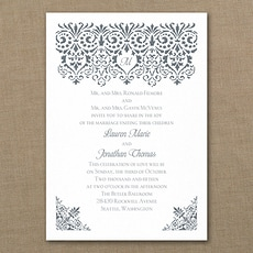 Damask Banner  - affordable and cheap invitation