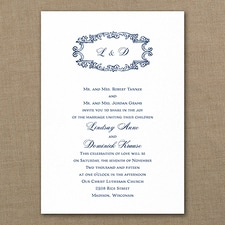 Vintage wedding invitation: Monogram Swirls