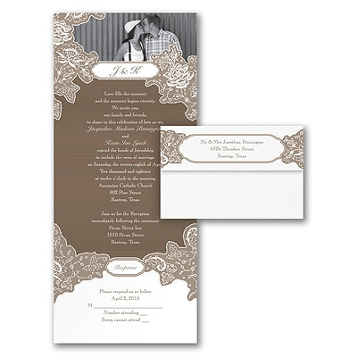 Romantic Details - Seal 'n Send Invitation