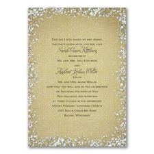 Wedding Invitation: Burlap Blossoms