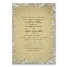 Burlap Blossoms - Wedding Invitation