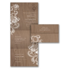 Lacy Rustic - Seal 'n Send Invitation