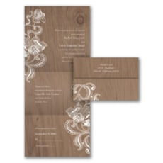 Lacy Rustic - Seal and Send Invitation