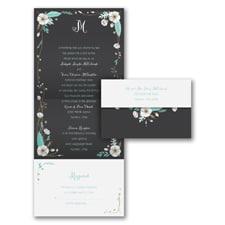 White Blossoms - Seal 'n Send Invitation
