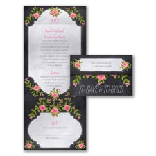 Painted Roses - Seal 'n Send Invitation