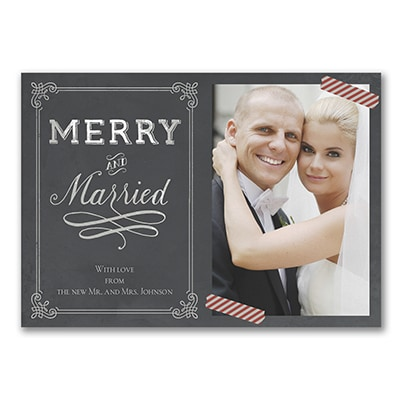 Merry and Married - Photo Holiday Card