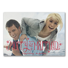 Merry Newlyweds - Photo Holiday Card