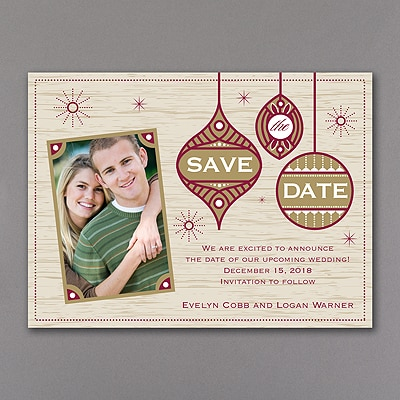 Ornamental - Photo Save the Date