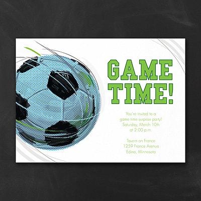 Game Time Soccer Invitation Birthday Invitations Carlson